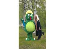 Framtidsdjuret Boonken och Katarina Lindgren, ansvarig Umeå Energicentrum