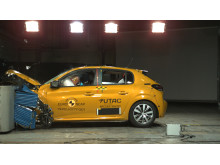 Peugeot 208 frontal offset impact test October 2019