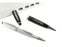 Der USB Kugelschreiber mit Mini-Chip im Einsatz am Rechner