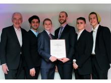 Chalmers 3Dteam fick Bert-Inge Hogsveds pris för bästa entreprenörskap