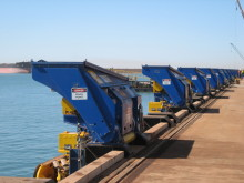 MoorMaster™ automated mooring units at Utah Point berth Port Hedland, Western Australia.
