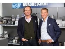 Stefan Lebrot, VD ELON Group och Asle Bjerkebakke, VD Euronics Norge