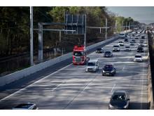 Scania Oberleitungs-Lkw auf der hessischen E-Highway Teststrecke