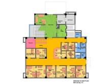 Første etasje på den nye barnepsykiatriske klinikken i Katmandu