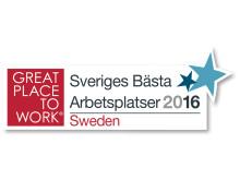 Great Place To Work - Sveriges Bästa Arbetsplatser 2016
