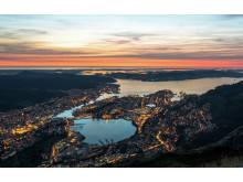 Sonnenuntergang in Bergen