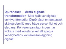 Årets digitala transformation