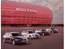 Four Audi A3 Sportback e-tron cars sporting the colors of the clubs will be traveling around Munich to advertise the Audi Cup
