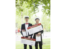 Stolta Bygmastipendiater på Luleå gymnasieskola