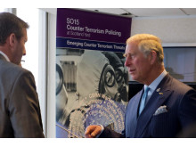 HRH The Prince of Wales speaks to a Counter Terrorism officer