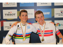 Sven Erik Bystrøm og Kristoffer Skjerping sykkel-VM 2014