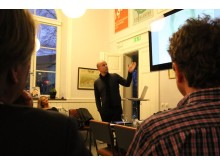 Henrik Otto makes a point at the IAA Swedish design seminar March 23 2011