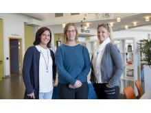 Koordinatorer Anna Hendén, Therese Lindroth och Gabriella Nilsson.