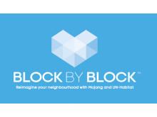 Logga för internationella förlängningen av Mina Kvarter - Block by Block