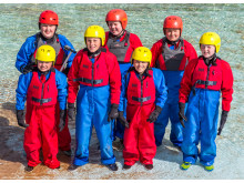 Coasteering at Portknockie group