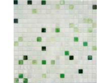 Vit och grön glasmosaikmix