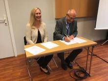 Signering av avtale med Mattilsynet