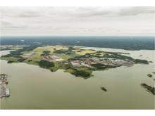 Flygfoto från söder, Malmölandet