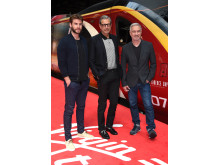 Liam Hemsworth, Jeff Goldblum and Roland Emmerich took to Platform 16 at London Euston station today as Virgin Trains unveiled its new complimentary on-board entertainment service, BEAM.