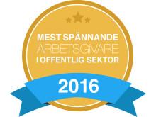 eHälsomyndigheten en av Sveriges 50 mest spännande arbetsgivare i offentlig sektor 2016