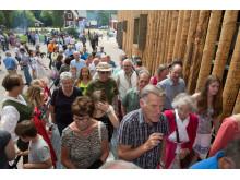 Fler än tusen besökare vid invigningen av nya Torsby Finnskogscentrum i Lekvattnet