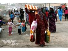 Syriska flyktingar i Domiz-lägret