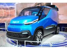 """Konceptet """"Iveco Vision"""" visar framtidens transportbil."""