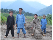 Fyra pojkar i Norra Pakistan