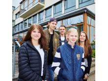 Elever vid Carlforsskas Ekonomi- och Handelsskola