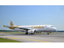 Golden Myanmar Airlines arrives in Singapore