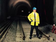 Konsernsjef i Sporveien, Cato Hellesjø i Lørenbanetunnelen