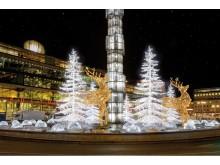 Kreativ julbelysning i Stockholm