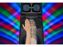 MHC-V90DW Gesture_Control_DJ_R2L-Mid