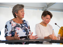 Seminarium i Almedalen:  När Medelhavet kom till Norden – vad händer med det nordiska samarbetet efter flyktingkrisen? (Ylva Johansson, arbetsmarknads- och etableringsminister och Anne Berner, Finlands samarbetsminister)