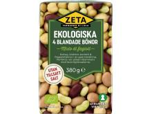 Produktbild Zeta ekologiska 4 blandade bönor