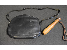 Truncheon and handbag issued to female police officers from 1986