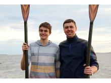 Hi-res image - Ocean Signal - Ocean rowers Joseph Gagnon (left) and Brian Conville