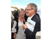 Åke Svenson och Eva Lennström, första spadtaget, Flottiljens äldreboende