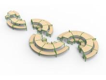 Långbordet, design White Arkitekter och Ebba Matz