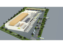 Når lageret står klar i foråret 2016, skal der dagligt håndteres op til 160.000 kasser drikkevarer på A. Kempfs lager