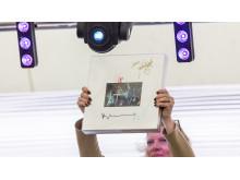 Signerad samlingsbox med ABBA skivor på Barngolfen 2017