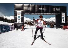 Françoise Stahel beim Engadin Ski-Marathon