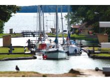 Pressbild - Göta kanal. Fritidsbåtar i Bergs slussar