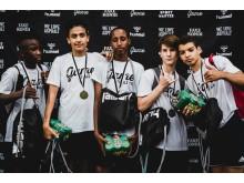 Vinderne af 12-14-årige gadefodbold: FC Life fra Sønderborg