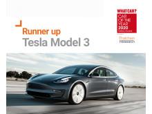 What Car? Safety Award runner up - Tesla Model 3
