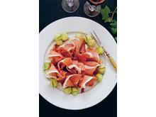 Serranoskinka med senapsmarinerad melon