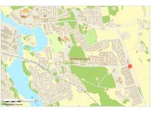 Översiktskarta, planområde - Kullersta 12:1