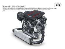 Audi S6 - 3.0 V6 TDI motor med elektrisk kompressor og 48 volt MHEV system med remstartergenerator