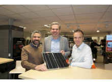 Mohamed Ezzo från Solvio tillsammans med Håkan Svärd och Henrik Stjernstad från Elektroskandia