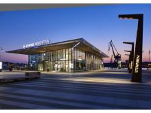 STENPIRENS RESECENTRUM, GÖTEBORG - ett av de nio projekt som tävlar om Svenska Ljuspriset i år